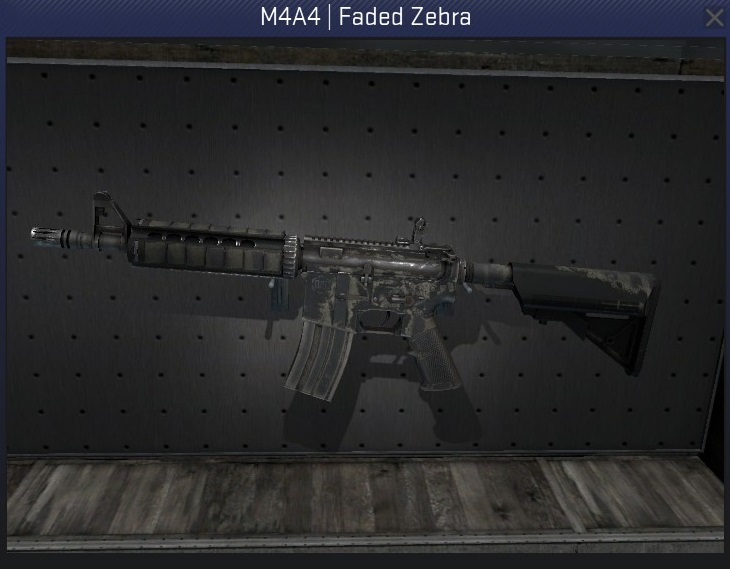 m4a4 faded zebra battle-scarred