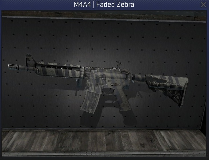 m4a4 faded zebra field-tested