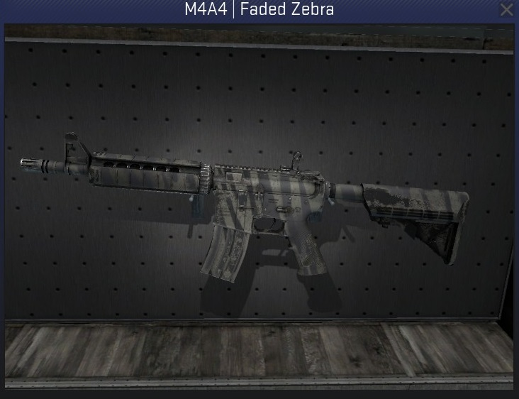 m4a4 faded zebra minimal wear