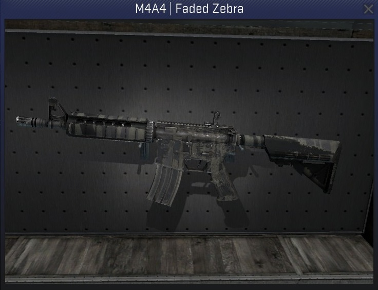 m4a4 faded zebra well-worn