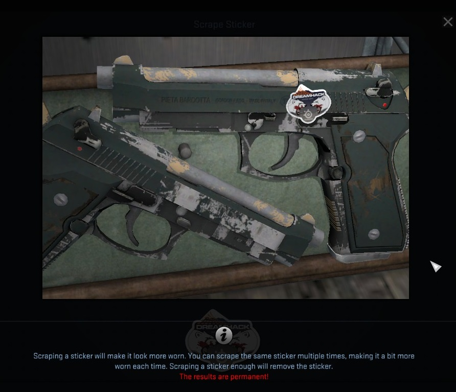 view stickers on pistols